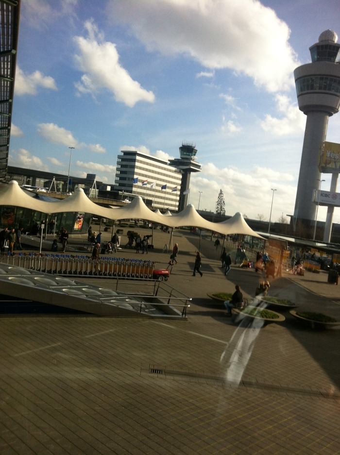 Sun at Schipol...a rarity I am told!
