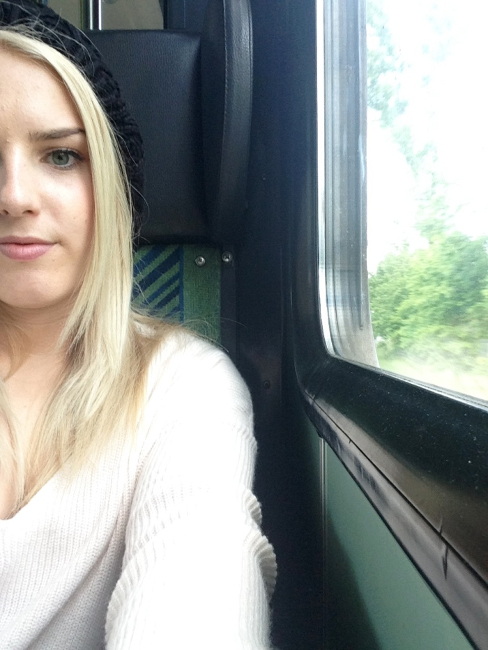 Attempted creative train selfie