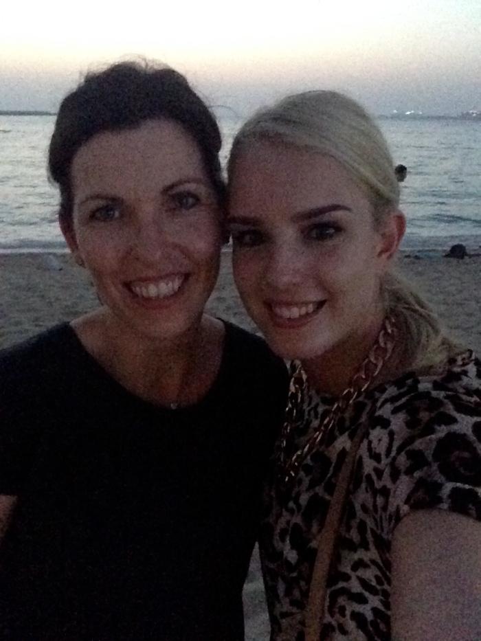 Britt and I at Jumeirah Beach