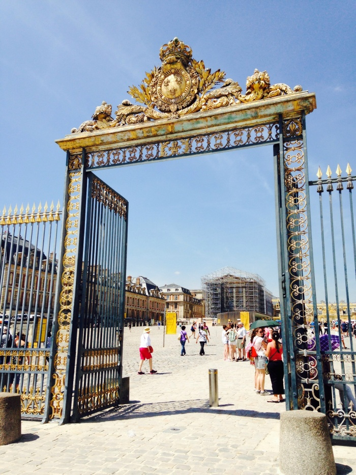 The gate to Versailles