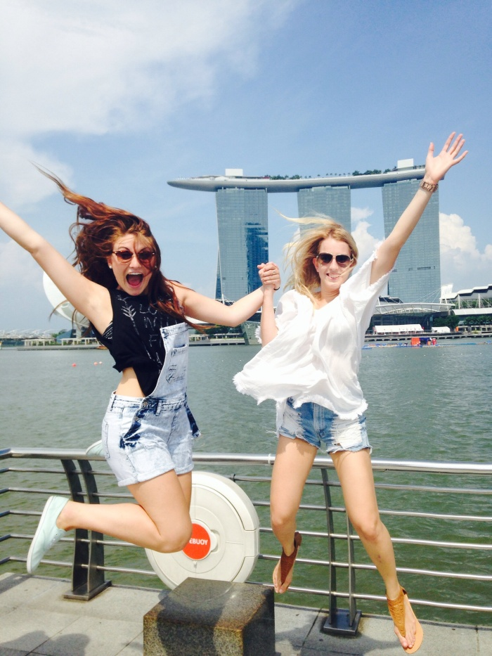 Fun at the Merlion Park