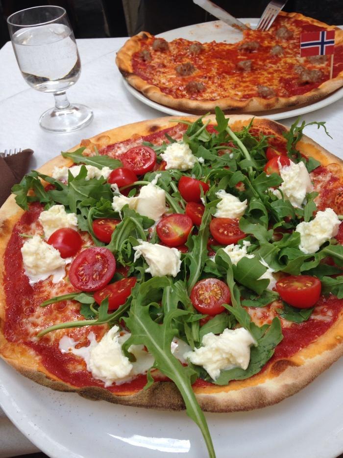 Pizza Primavera- Rocket, Tomato and Buffalo Mozzarella