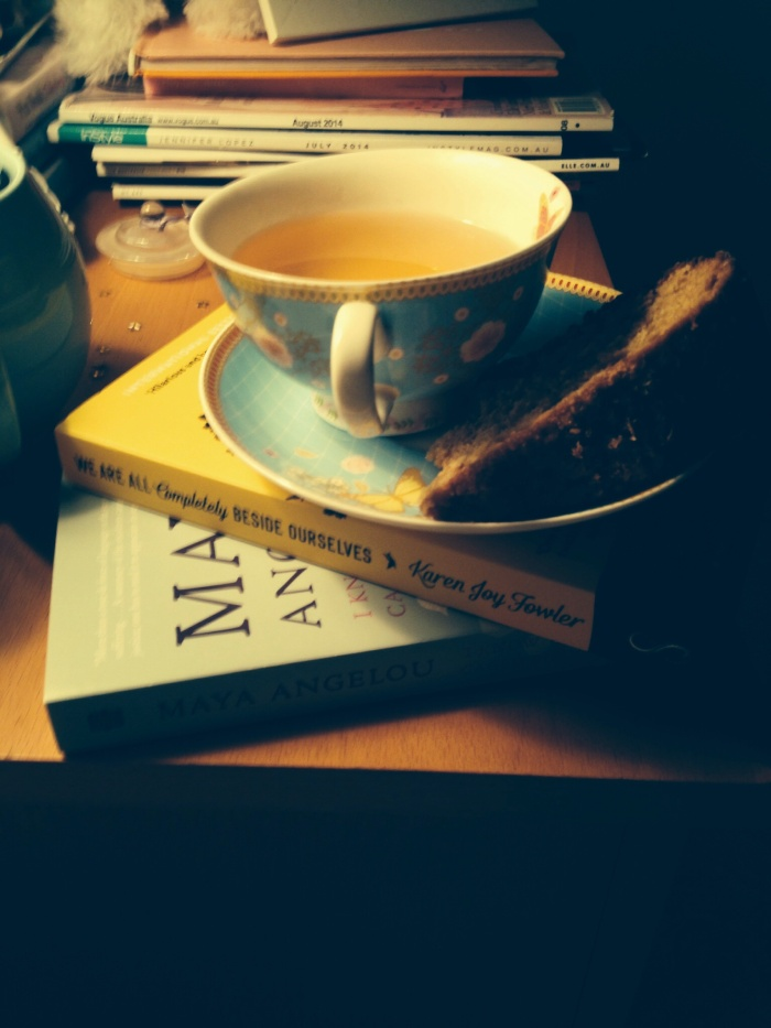 I had lots of time to catch up on my reading (and drunk lots of tea, too)