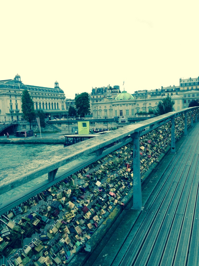 Seeing this familiar land mark kept me from freaking out! Pont Neuf aka Love Lock Bridge