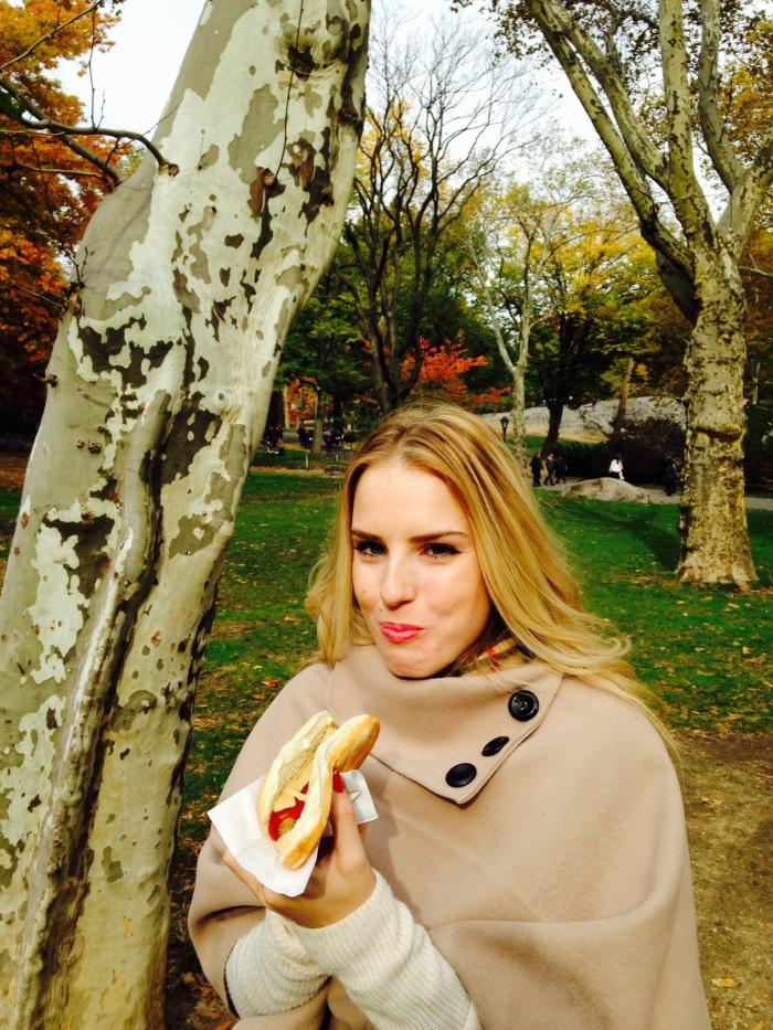 Typical eating shot ft. NY hotdog!