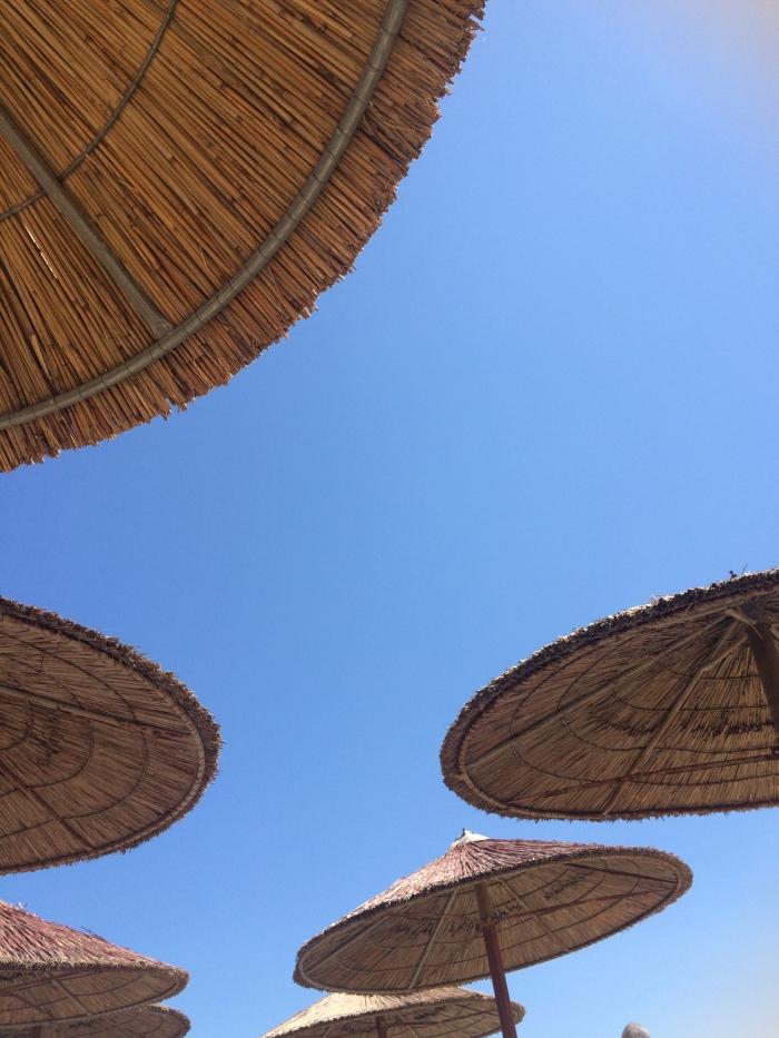 Beach Parasols in Rafina