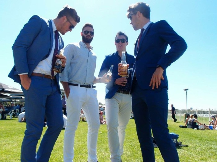 The boys looking sharp at the races :)