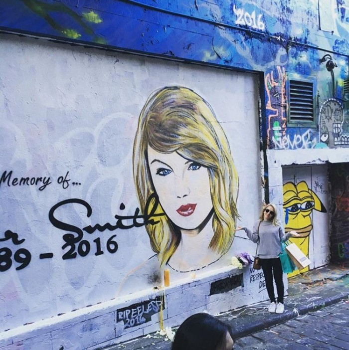 "The infamous ""Taylor Smith"" mural in Hosier lane"