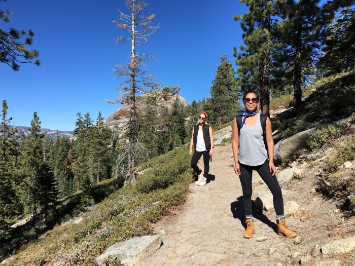 Happily on our way to Sentinel Dome